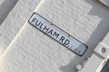 Fulham Road Sign, London