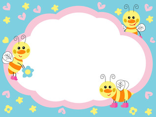 cheerful bees. vector illustration