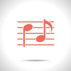 Vector music icon. Eps10
