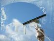 Leinwandbild Motiv Clear blue sky