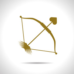 Vector bow and arrow icon. Eps10