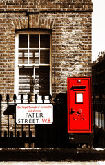 Postbox Pater Street, London