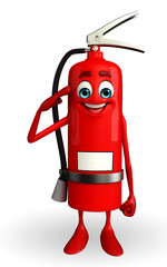 Fire Extinguisher character with Salute pose