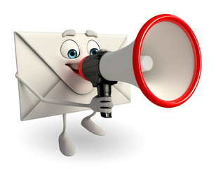Mail Character with Loudspeaker