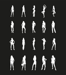 Beautiful Girls Silhouettes