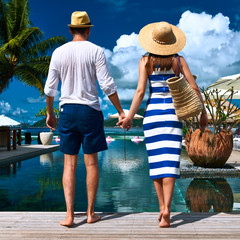Couple near poolside