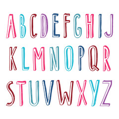 hand drawn condensed font