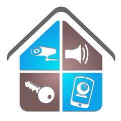 logo alarme vidéo surveillance sécurité