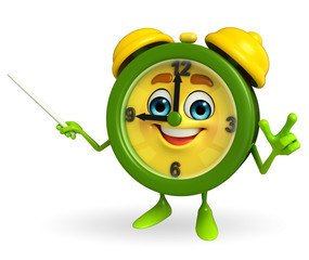 Table clock character with stick