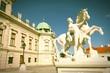 Belvedere Palace, Vienna. Cross processed color tone.