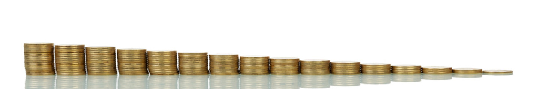 Decreasing or increasing coins stacks