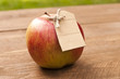 canvas print picture - Organic apple