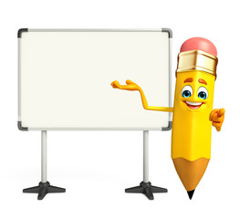 Pencil Character with display board