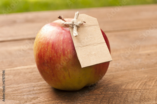 canvas print picture Organic apple
