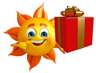Sun Character With gift box