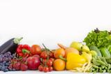Fototapeta warzywa i owoce w kolorach tęczy