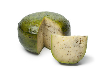 Dutch herbal and pesto cheese