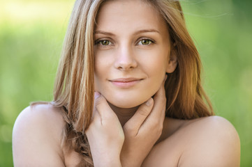 portrait of young beautiful blond woman