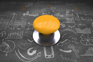 Composite image of yellow push button