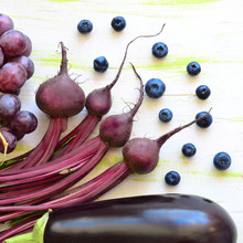 Fioletowe warzywa i owoce