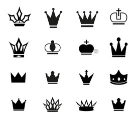 Simple crown icons