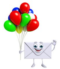 Mail Character with Balloon