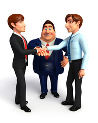 Group business people in office.