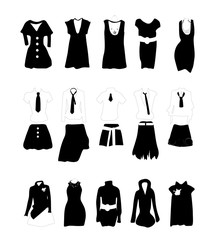 Women Dresses Icon Collection