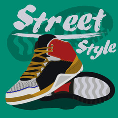 sneakers graphic design