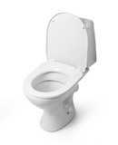 Open toilet bowl isolated. File contains a path to isolation.