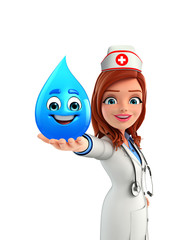 Nurse Character with water drop