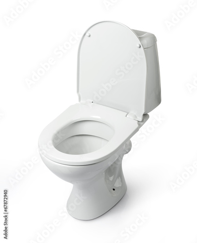 Open toilet bowl isolated. File contains a path to isolation. - 67872940