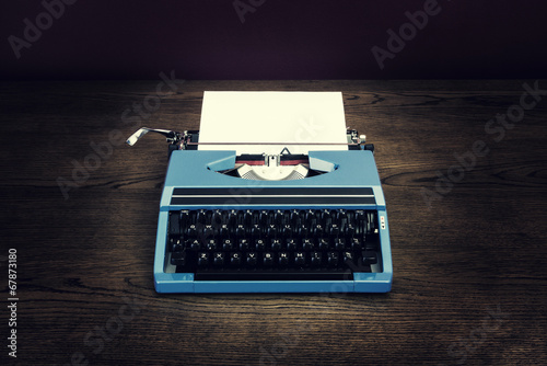 retro typewriter on desk