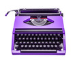 purple typewriter