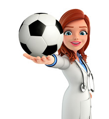 Young Doctor with football