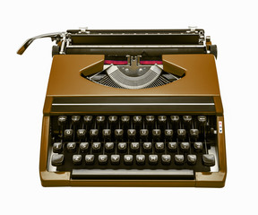 brown typewriter