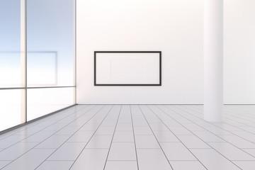 Raum leer hell modern mit Bilderrahmen