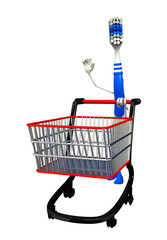 Toothbrush Character with trolley