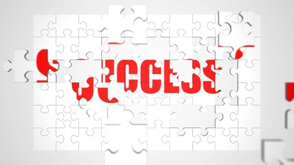Success Jigsaw Puzzle Animation