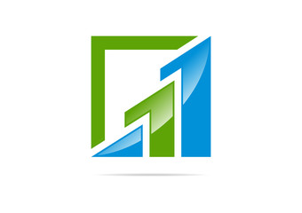 Financial grow  logo