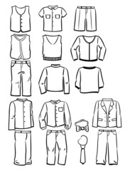 Contours school clothes for boys