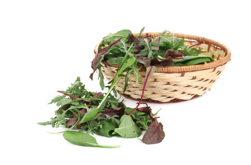 Mix salad in basket.