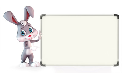 Easter Bunny with display board