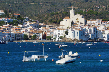 Village of Cadaques Spain Mediterranean sea coast