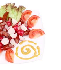Close up of radish salad.