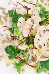 Close up of cauliflower salad.