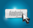 analysis button illustration design
