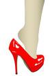 Una scarpa, un piede, la sensualità di una donna