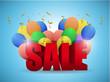sale balloons illustration design