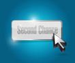 second chance button illustration design